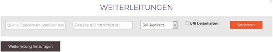 Weiterleitung netzadresse.at
